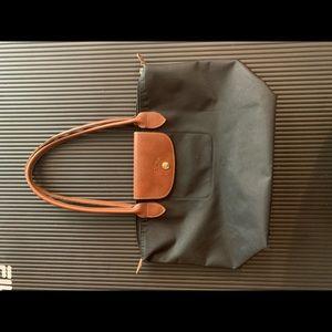 'Medium 'Le Pliage' Tote Shoulder Bag, Gunmetal